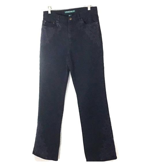 LAUREN Jeans Co Black High Waist Jeans Size 8 Vtg